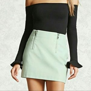 Forever 21 Faux Leather Skirt S
